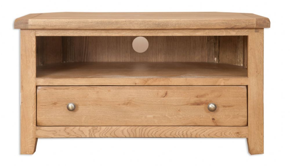 Melbourne Country Oak Corner TV Unit